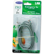 Belkin® CAT5e Crimped Patch Cable, RJ45 Connectors, 7 ft., Gray