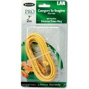 Belkin® CAT5e Snagless Patch Cable, RJ45 Connectors, 7 ft., Yellow