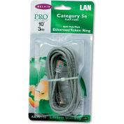 Belkin® CAT5e Crimped Patch Cable, RJ45 Connectors, 10 ft., Gray