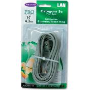 Belkin® CAT5e Patch Cable, RJ45 Connectors, 14 ft., Gray