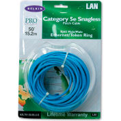 Belkin® CAT5e Snagless Patch Cable, RJ45 Connectors, 50 ft., Blue