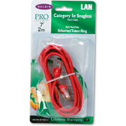 Belkin® CAT5e Snagless Patch Cable, RJ45 Connectors, 7 ft., Red
