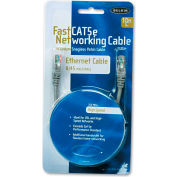 Belkin® FastCAT 5e Snagless Patch Cable, RJ45 Connectors, 10 ft., Gray