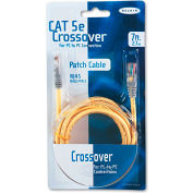 Belkin® CAT5e Crossover Patch Cable, RJ45 Connectors, 7 ft., Yellow
