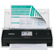 Brother® ADS1500W Wireless Compact Scanner, 600 x 600 dpi, 20 Sheet Automatic Feeder