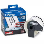 """Brother® Continuous Paper Label Tape, 2.4"""" x 100ft Roll, White"""