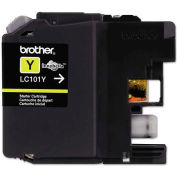 Brother® LC101Y, LC101Y Ink, 300 Page-Yield, Yellow