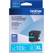 Brother® LC103C, LC-103C, Innobella High-Yield Ink, 600 Page-Yield, Cyan