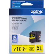 Brother® LC103Y, LC-103Y, Innobella High-Yield Ink, 600 Page-Yield, Yellow