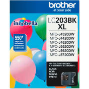 Brother® LC203BK (LC-203BK) High-Yield Ink, 550 Page-Yield, Black