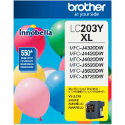 Brother® LC203Y (LC-203Y) High-Yield Ink, 550 Page-Yield, Yellow
