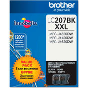 Brother® LC2072PKS (LC-2072PKS) Super High-Yield Ink, 1200 Page-Yield, Black, 2/Pk
