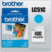 Brother® LC51C Innobella Ink, 400 Page-Yield, Cyan