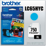 Brother® LC65HYC (LC-65HYC) Innobella High-Yield Ink, 750 Page-Yield, Cyan