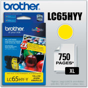 Brother® LC65HYY (LC-65HYY) Innobella High-Yield Ink, 750 Page-Yield, Yellow