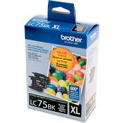 Brother® LC752PKS (LC-75BK) Innobella High-Yield Ink, Black, 600 Page-Yield, 2/Pk