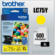 Brother® LC75Y (LC-75Y) Innobella High-Yield Ink, 600 Page-Yield, Yellow
