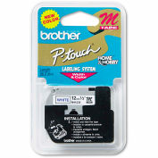 "Brother® P-Touch® M Series Tape Cartridge, 1/2""W, Blue on White"