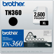 Brother® TN360 High-Yield Toner, 2600 Page-Yield, Black