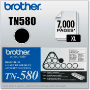 Brother® TN580 High-Yield Toner, 7000 Page-Yield, Black