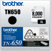 Brother® TN650 High-Yield Toner, 8000 Page-Yield, Black