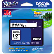 """Brother® P-Touch® Tze Labeling Tape, 1/2""""W, Black on White"""