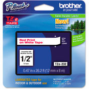 """Brother® P-Touch® TZe Labeling Tape, 1/2""""W, Red on White"""
