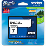 """Brother® P-Touch® TZe Labeling Tape, 1""""W, Black on White"""
