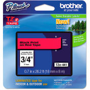 """Brother® P-Touch® TZe Labeling Tape, 3/4""""W, Black on Red"""