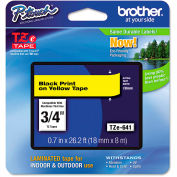 "Brother® P-Touch® TZe Labeling Tape, 3/4""W, Black on Yellow"