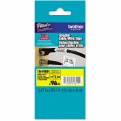Brother® P-Touch® TZe Flexible Tape Cartridge, 1/2in x 26.2ft, Black on Yellow