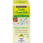 Bigelow Caffeine-Free Herbal Tea, Cozy Chamomile, 8 Oz Single Cup Bags, 28/Box