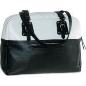 "Buxton OC571T47BK Santorini Laptop Tote, 16"" x 5 3/4"" x 13 3/4"", Black/White"
