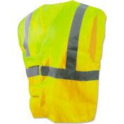 Boardwalk® BWK00036 Class 2 Safety Vest, Lime Green/Silver, Standard