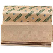 "Boardwalk Green Multi-Fold Natural Towels, 9-1/8"" x 9-1/2"", 200 Sheets/Pack, 20/Case - BWK13GREEN"