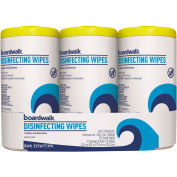 Boardwalk® Disinfecting Wipes Lemon, 225 Wipes/3-Pack 4/Case - BWK355W753CT