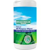 Boardwalk® Natural All Purpose Wipes Unscented, 75 Wipes/Can 6/Case - BWK3736