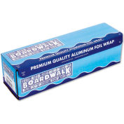 "Boardwalk® Heavy-Duty Aluminum Foil Roll, 12"" x 500 Ft., 20 Micron Thickness, Silver"
