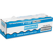 "Boardwalk® PVC Food Wrap Film, 18"" x 2000-ft. Roll"
