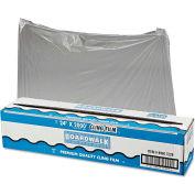 "Boardwalk® PVC Food Wrap Film Roll, 24"" x 2000 Ft., Clear"