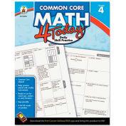 Carson-Dellosa Publishing Common Core 4 Today Workbook, Math, Grade 4, 96 pages