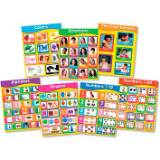 "Carson-Dellosa® Early Childhood Learning Chartlet Set, 17"" x 22"" Chart, 7 Charts/Set"