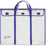 """Carson-Dellosa® Bulletin Board Storage Bag, Blue/Clear, 30"""" x 24"""""""
