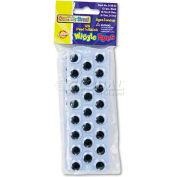 Creativity Street 3438-02 Peel 'N Stick Wiggle Eyes, Assorted Sizes, Black, 125/Pack