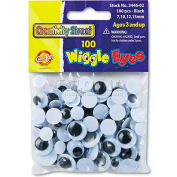 Creativity Street 3446-02 Wiggle Eyes Assortment, Assorted Sizes, Black, 100/Pack