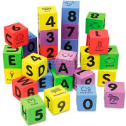 Chenille Kraft® WonderFoam Learning Blocks, Assorted, 30 Blocks
