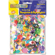 Creativity Street 6114 Sequins & Spangles, Assorted Metallic Colors, 4 oz/Pack