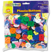 Chenille Kraft 6120 Plastic Button Assortment, 1 lbs., Assorted Colors/Sizes