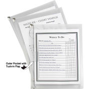 C-Line Products Zip 'N Go Reusable Envelope with Outer Pocket, Clear, 3/PK (Set of 8 PK)