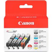 Canon® 2946B004 (CLI-221) Ink, 4/Pack, Tri-Color